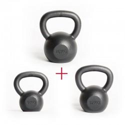 Zestaw startowy damski - Kettlebells 8 kg & 12 kg & 16 kg