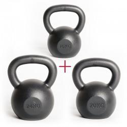 Zestaw startowy męski - Kettlebells 16 kg & 20 kg & 24 kg
